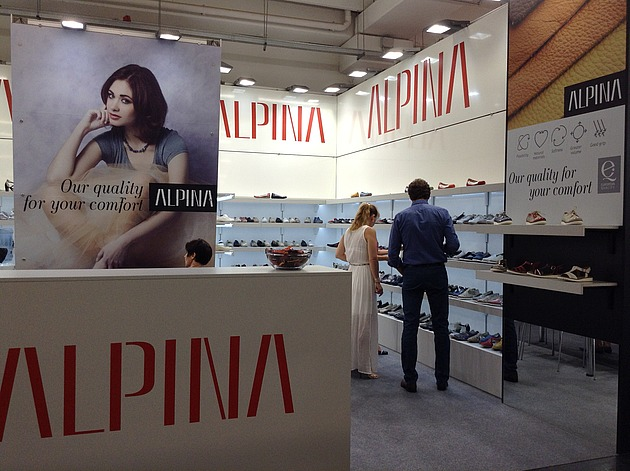 Presentation of the New Alpina Collection at the Fashion Footwear Fair in Italy